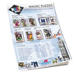 Magic Puzzle leaflet with our collection anti-stress fidget puzzles